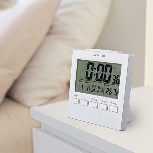 jago funkwecker wecker mit temperaturanzeige atomuhr. Black Bedroom Furniture Sets. Home Design Ideas